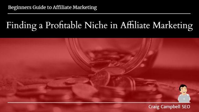 Finding a Profitable Niche in Affiliate Marketing, Find your Niche