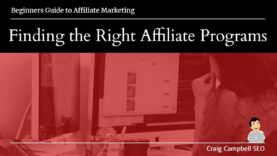 Finding the Right Affiliate Programs, Best Affiliate Programs?