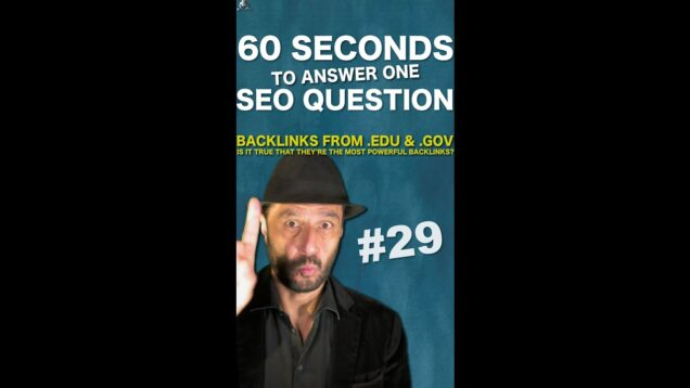 Are .Edu and .Gov Backlinks Better For SEO on Google? – SEO Conspiracy QA #Shorts