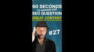 Publish Great Content Says Google. Is it Enough for Search Engine Optimisation goals? #Shorts
