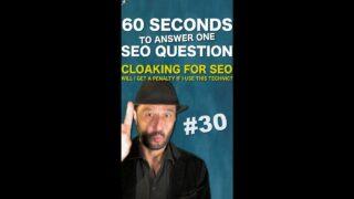 Will I Get a Google Penalty if I Use Cloaking for SEO? – SEO Conspiracy QA #Shorts