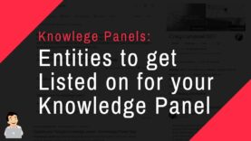 Entities to get Listed on for your Knowledge Panel, Websites to get listed on to help your KG