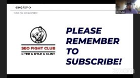SEO Fight Club – Episode 72 – Organic Traffic