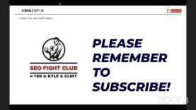 SEO Fight Club – Episode 108 – Field Observations