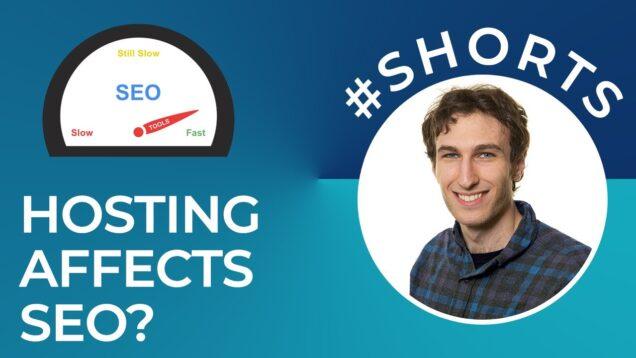 Can Web Hosting Affect SEO? #shorts