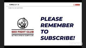 SEO Fight Club – Episode 127 – Data-Driven SEO Audit